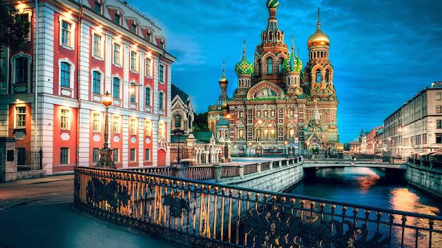 Paisaje HDR de San Petersburgo Rusia