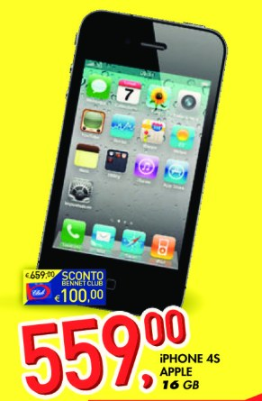 Promozione a luglio iphone 4s volantino bennet
