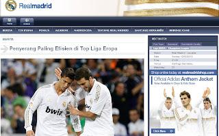 Situs www.realmadrid.co.id Diluncurkan Untuk Madridista Indonesia