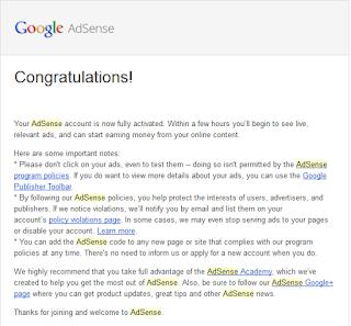 Akhirnya  Di Terima Google Adsense Full Approved