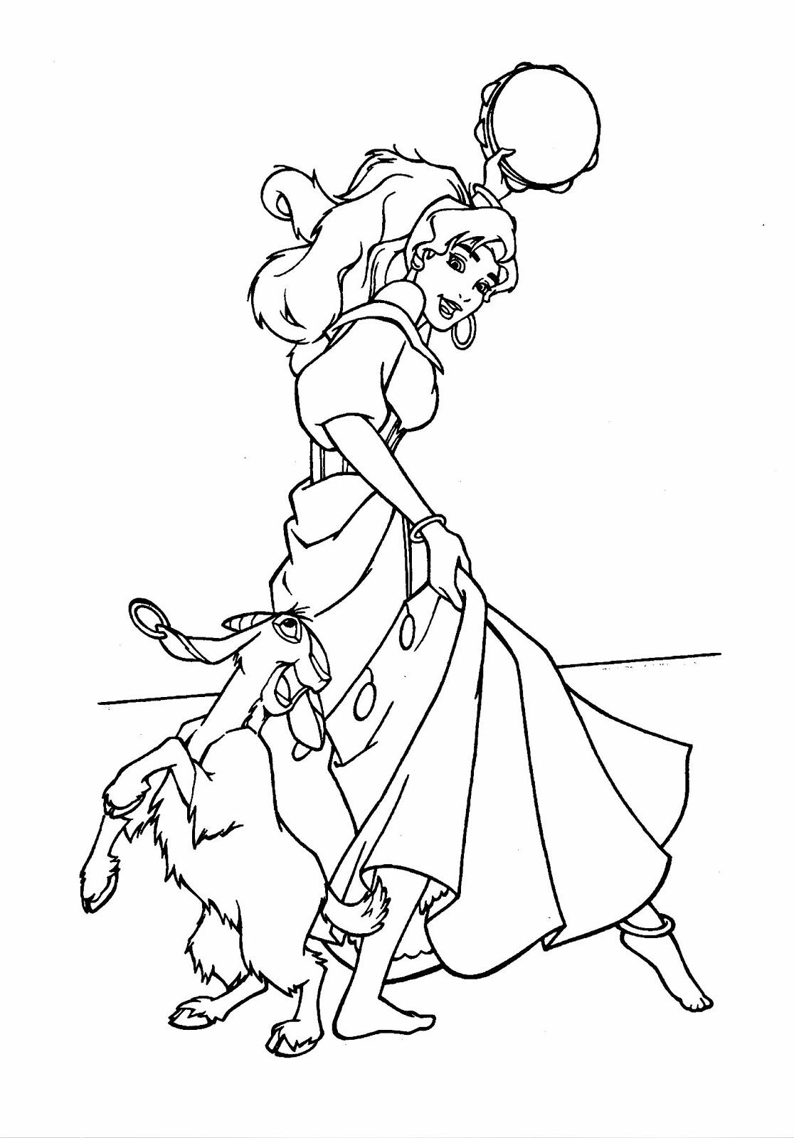 El Jorobado de Notre Dame de Disney †: Dibujos para colorear de los ...