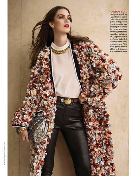 Marni Sprin/Summer 2014 Editorial:Terracotta 3D Flowers Duster Coat