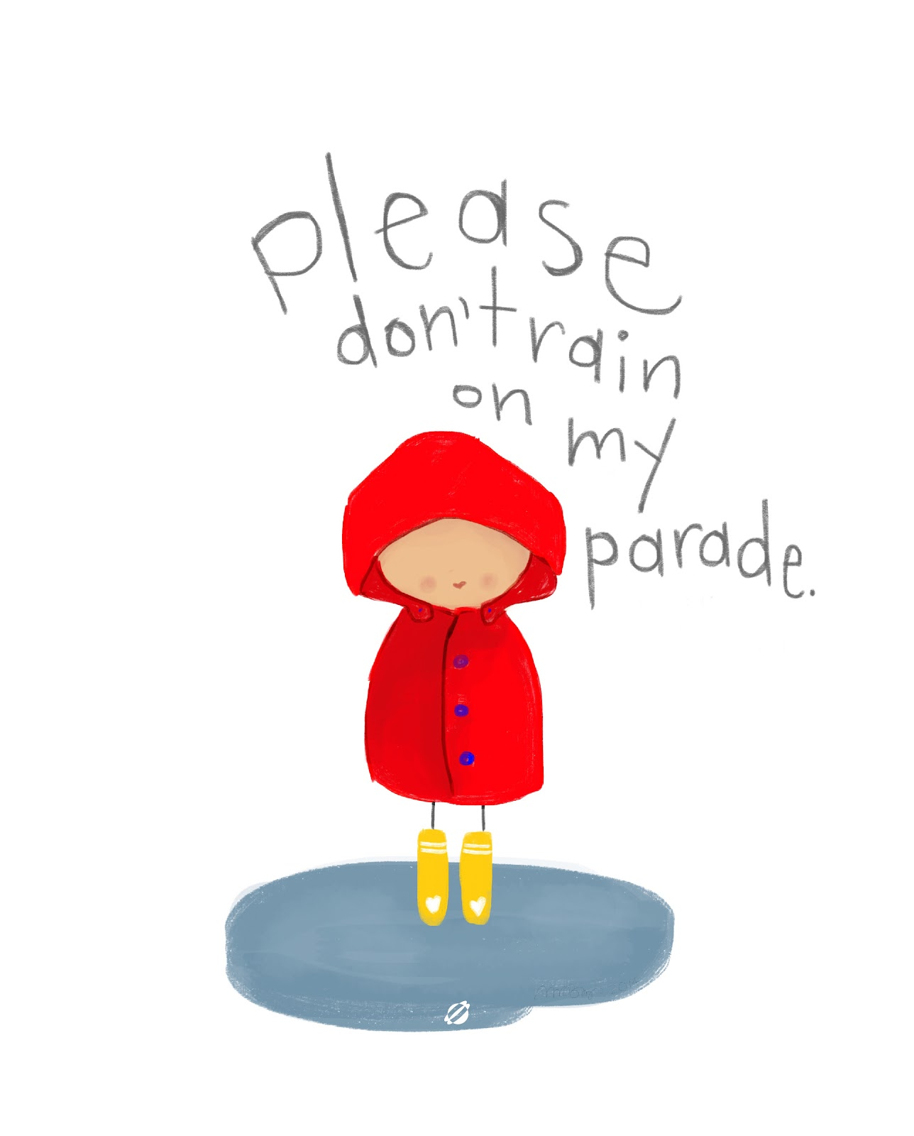 LostBumblebee ©2014 MDBN Please Don't Rain On My Parade- FREE Printable- Personal use only!