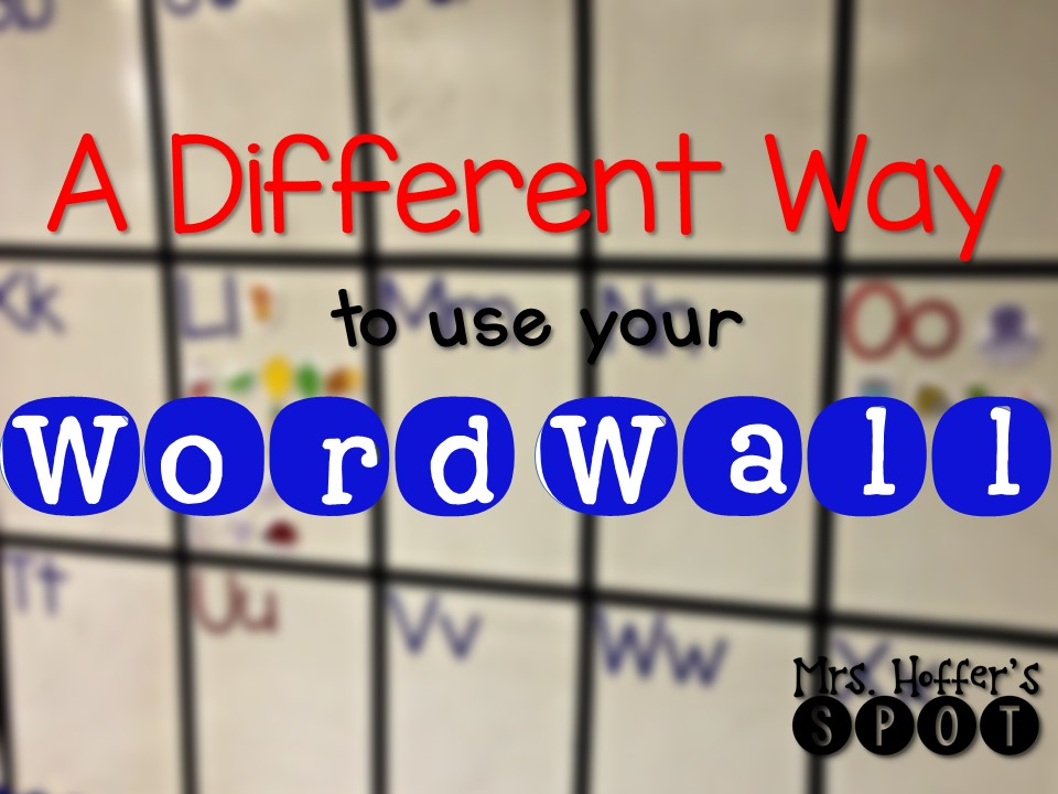 Different Way To Use Word Wall