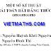 Một số kỹ thuật chứng minh BĐT Nguyễn Huỳnh Khôi Nguyên