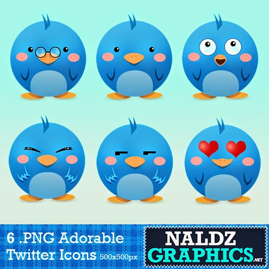 6 Adorable Twitter Icon Pack