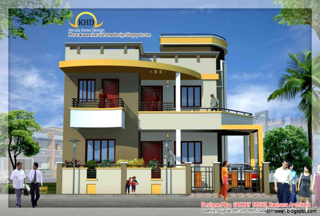 Home elevation design software this wallpapers for Duplex house elevation designs india