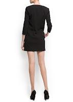 mango kısa siyah elbise modeli