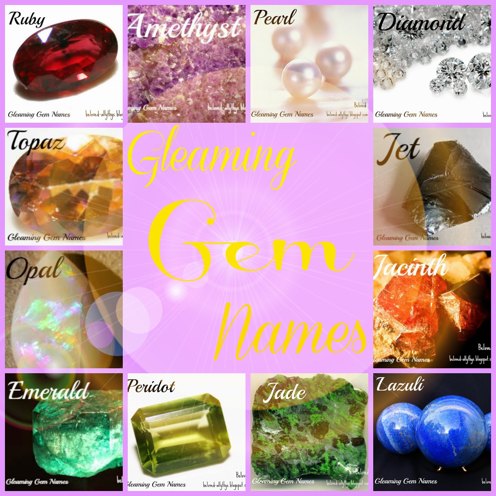 Beloved Baby Names: Gleaming Gem Names for Girls and Guys