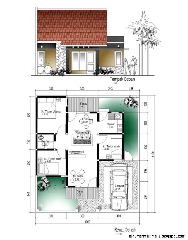 denah dan tampak rumah minimalis design rumah minimalis