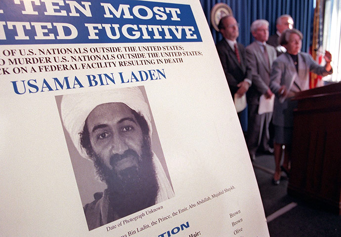 bin laden poster. osama in laden wanted poster.
