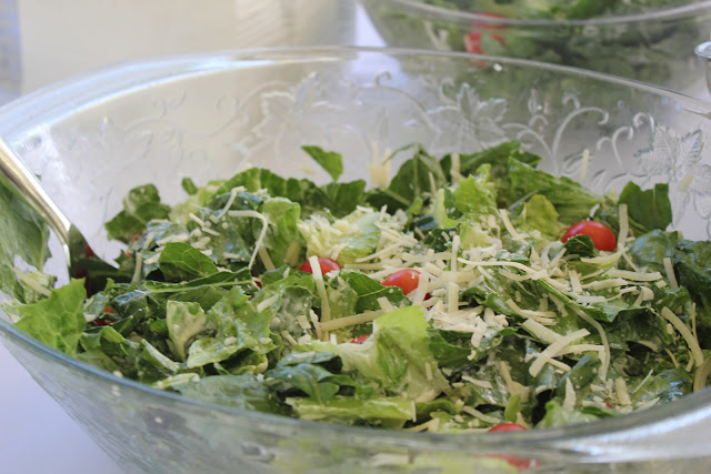 Caesar salad for Italian-themed bridal shower