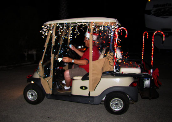 Captain Jim: Lighted Golf Cart Parade... on