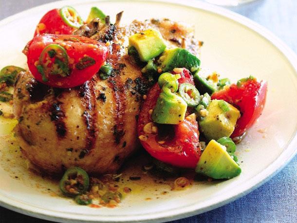 The Domestic Curator: Grilled Cilantro Chicken with Tomato ...