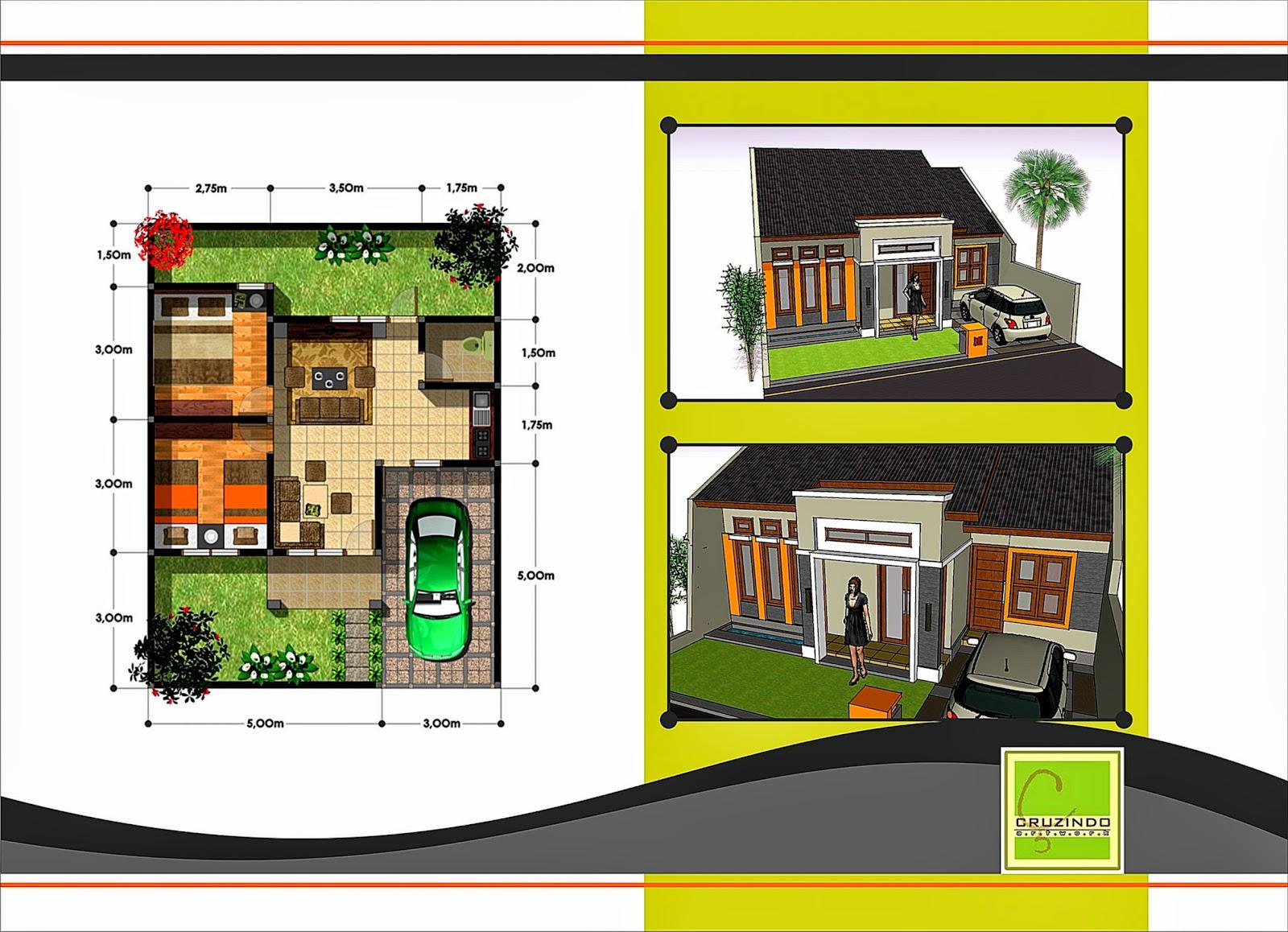 Denah Rumah Minimalis Type 45 Dekorasi Rumah 123