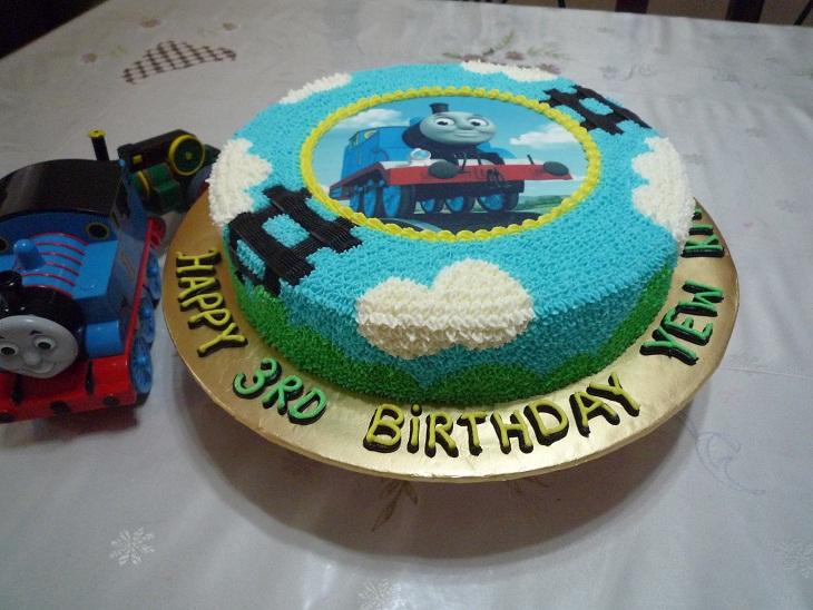 Gg Home Biz Cakes Wedding Cakes Thomas Birthday Cake With Edible