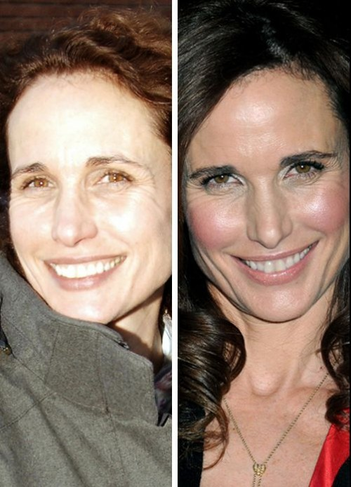 Andie Macdowell sans maquillage