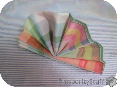 ProsperityStuff Plaid Napkin - fan fold