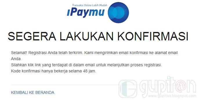 Cara Daftar iPaymu 2014 2