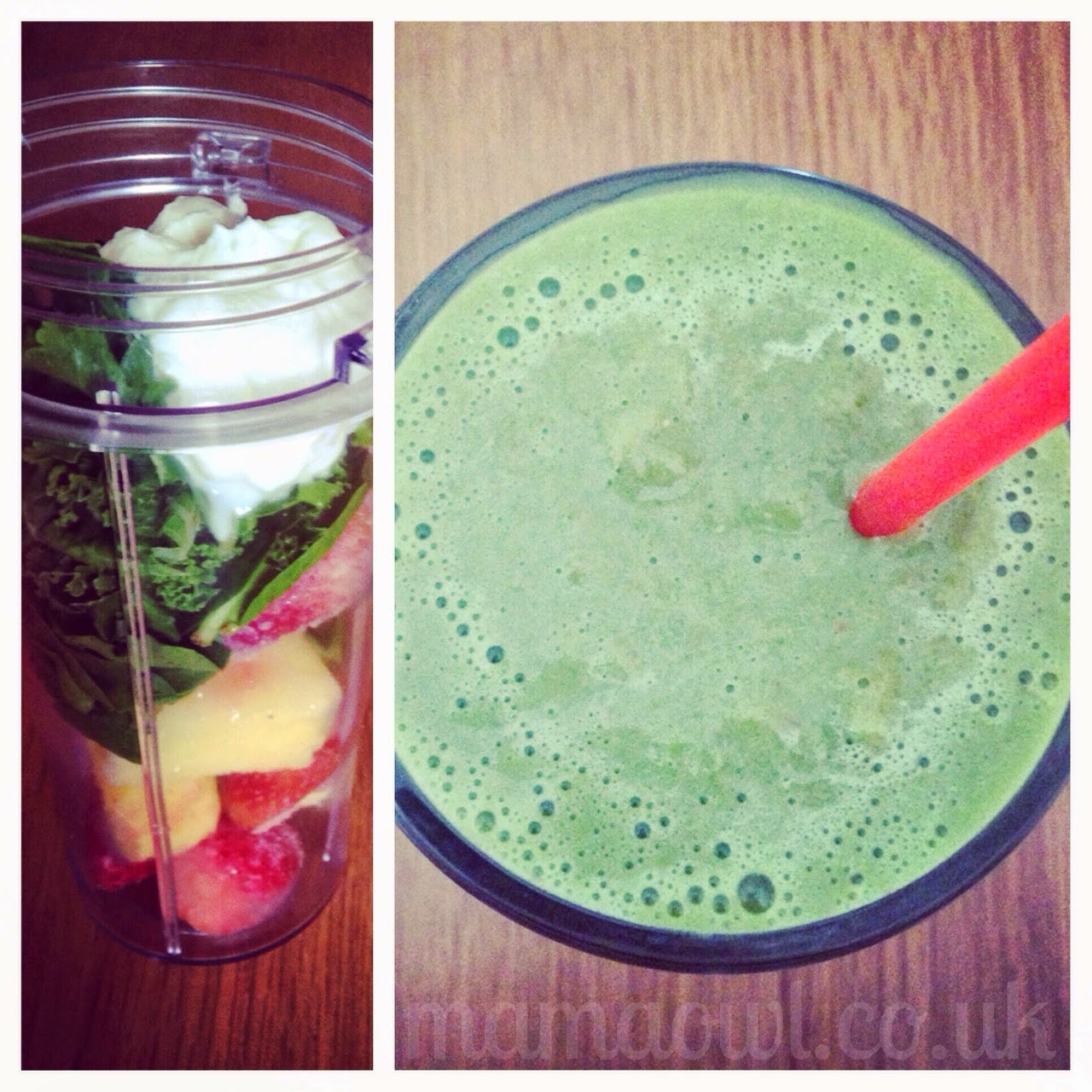 Smoothie - Kale, Spinach, Strawberries, Pineapple, Total Greek 0%