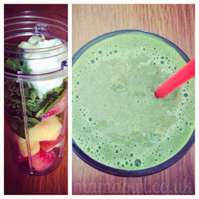 Smoothie - Kale, Spinach, Strawberries, Pineapple, Total Greek 0%