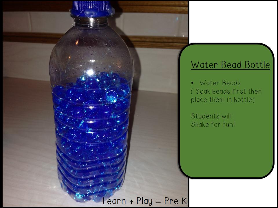 Learn + Play = Pre K: Sensory Bottles
