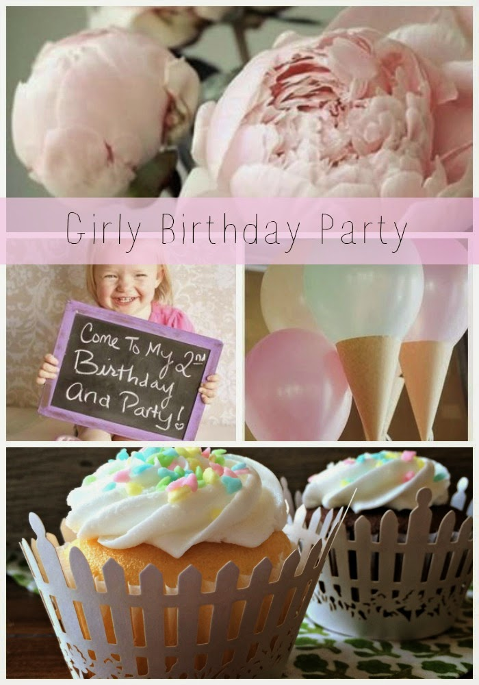 Little Girl Birthday Party, Picket Fence Cupcake Wrappers, Outside the Box Papers