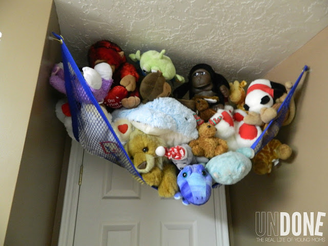 {The UNDONE Blog} Boy's Nursery  - stuffed animal canopy