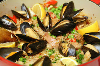 Leftover Turkey & Seafood Paella