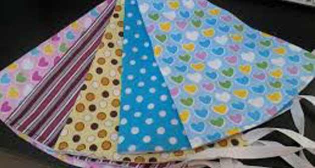 kain flanel dengan tipe bercorak