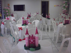 mini castelo arranjo de mesa