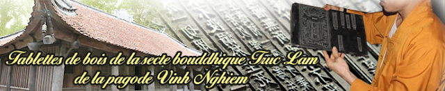 Tablettes de bois de la secte bouddhique truc lam de la pagode vinh nghiem (patrimoine documentaire de l'humanité)