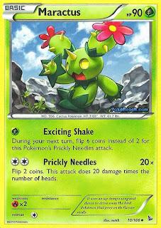 Maractus Flashfire Pokemon Card