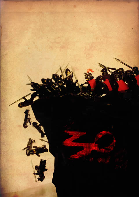 300 Lego Poster
