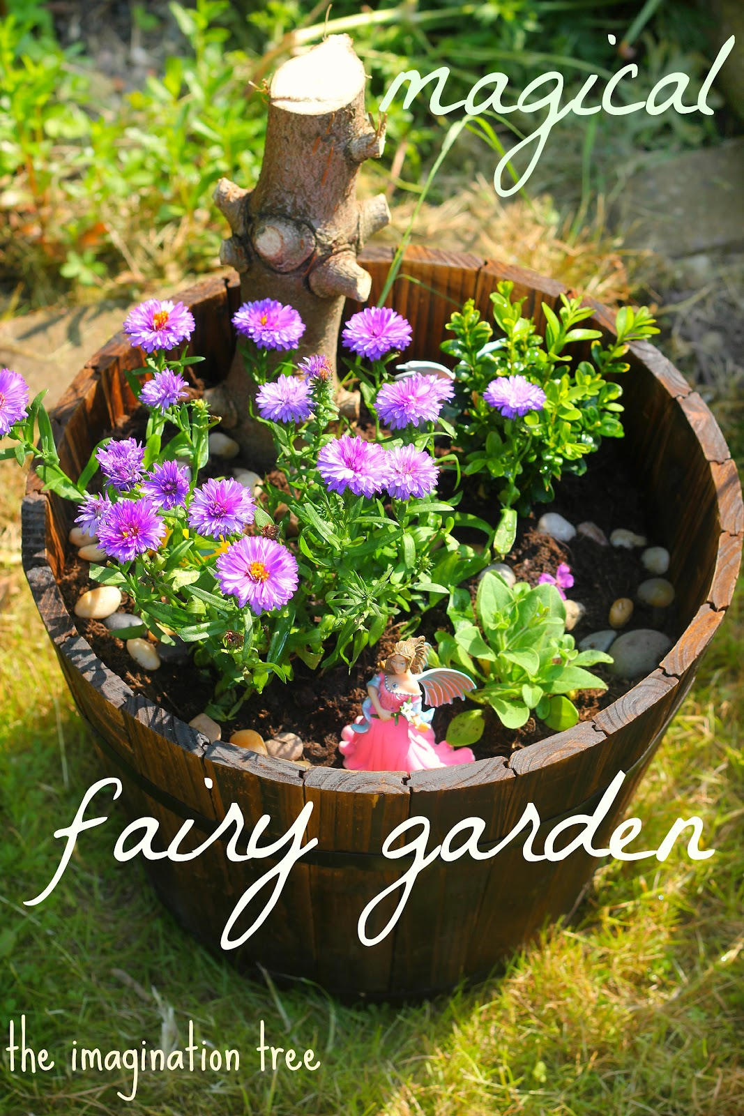 Making a fairy garden the imagination tree Kids garden ideas