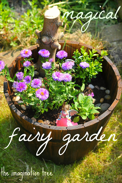 make a fairy garden with kids