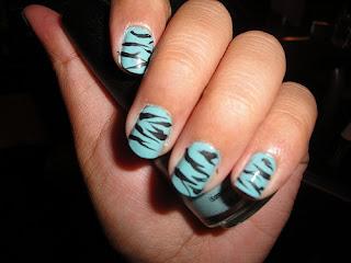 saranje noktiju - animal print nokti 011
