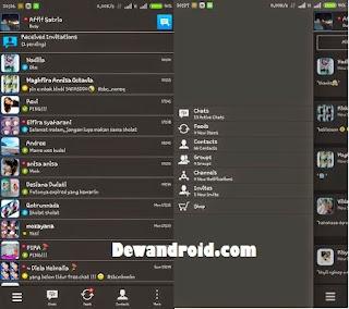 BBM Mod Dark Theme Apk 2.8.0.21 with Enter Key