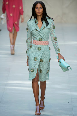 Burberry Spring 2014 Mint Trench Coat