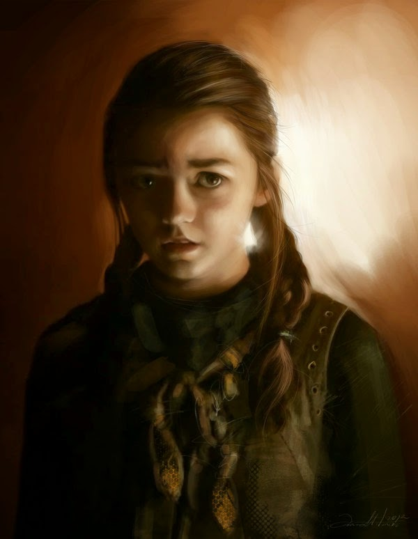 11-Arya-Stark-Ania Mitura-GoT-Game-of-Thrones-Digital-Paintings-www-designstack-co
