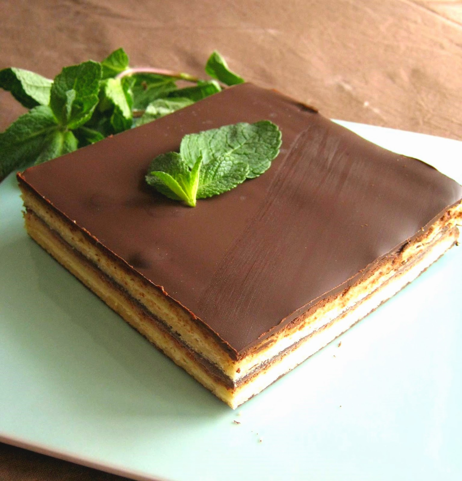 Gateau chocolat ganache menthe