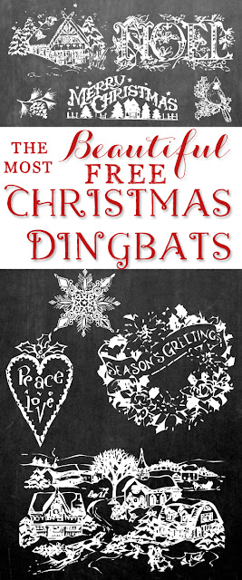 http://www.sweetcsdesigns.com/beautiful-free-christmas-dingbat-fonts/
