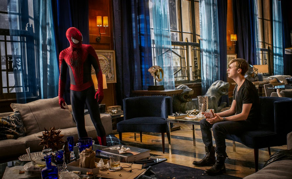 Andrew Garfield and Dane De Haan in The Amazing Spider-man 2