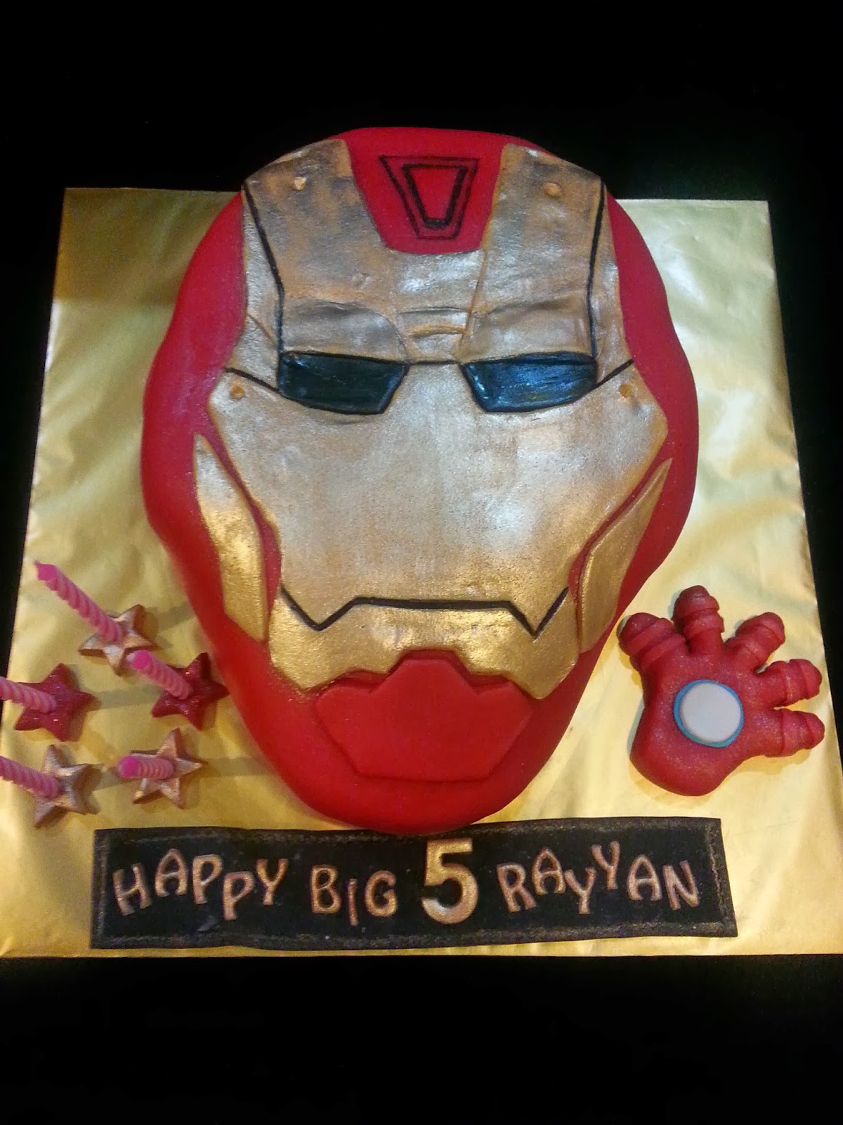 how to make iron man mask cake