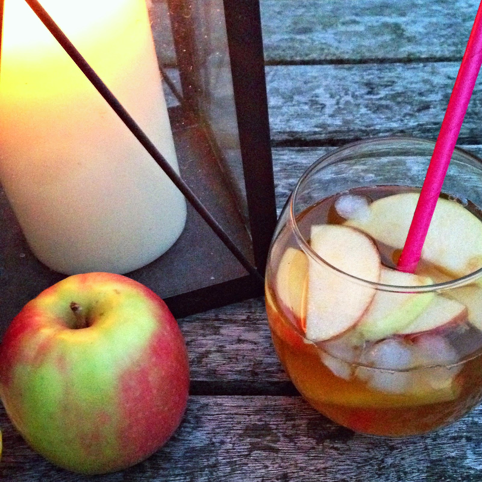 Maple Bourbon Cider Smash cocktail (serves one - multiply as needed)