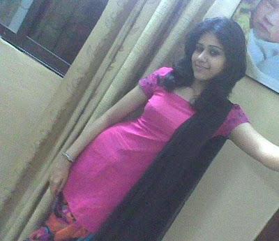 Local Girl Neha Kunwal In Pink Dress