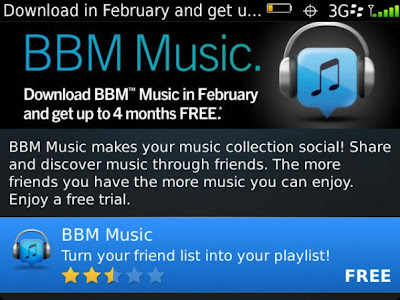 Get 4 Free Months for BBM Music
