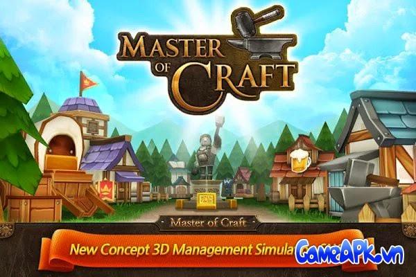Master of Craft v1.0.02 hack full tiền xu và đá quý cho Android