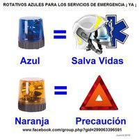 PLATAFORMA ROTATIVOS AZULES PARA LOS SERVICIOS DE EMERGENCIA