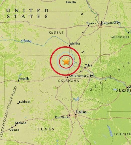 Magnitude 3.7 Earthquake of Medford, Oklahoma 2015-04-23